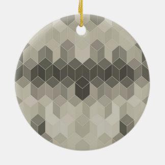 Graue Skala-Würfel-geometrischer Entwurf Keramik Ornament