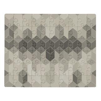 Graue Skala-Würfel-geometrischer Entwurf Puzzle