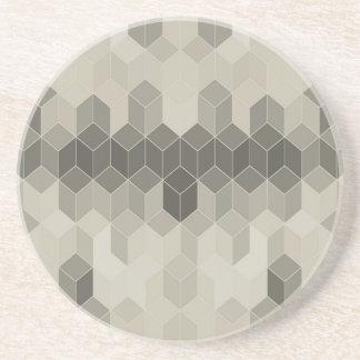 Graue Skala-Würfel-geometrischer Entwurf Sandstein Untersetzer