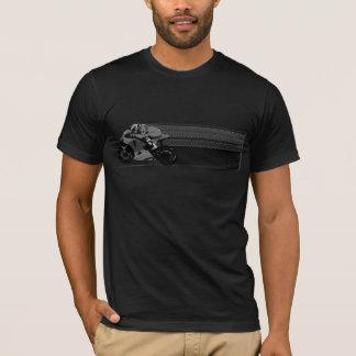 Graue Streifen-Dunkelheit T-Shirt
