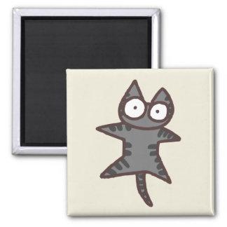 Graue Tabby-Katze Quadratischer Magnet
