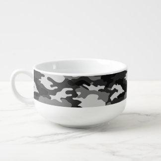 Graue Tarnungs-Muster-Suppen-Tasse Große Suppentasse