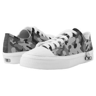 Graue Tarnungs-niedrige Spitzenschuhe Niedrig-geschnittene Sneaker