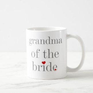 Graue Text-Großmutter der Braut Kaffeetasse