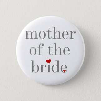 Graue Text-Mutter der Braut Runder Button 5,7 Cm