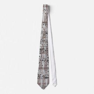 Graue Trompete u. Musiknoten Personalisierte Krawatte