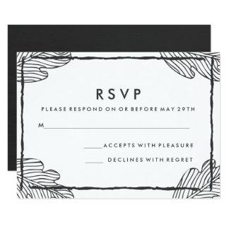 Graue tropische Blatt-Hochzeit UAWG Karte 8,9 X 12,7 Cm Einladungskarte