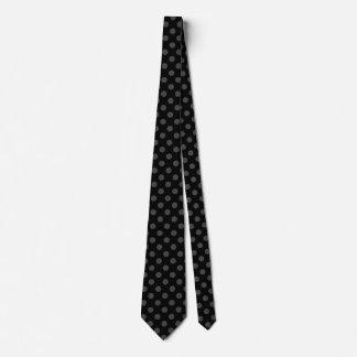 Graue Tupfen auf Schwarzem Krawatte