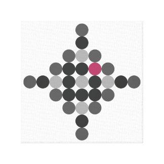 Graue u. rosa geometrische Kunst Leinwanddruck