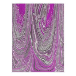 Graue und rosa flüssige Flüssigkeit abstrakt Postkarte