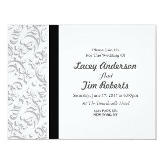 Graue und schwarze elegante Hochzeits-mit Karte