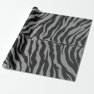 Graue und schwarze Tiger-Streifen-Tierdruck Geschenkpapier