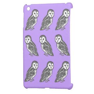 Graue und weiße Schleiereulen kopieren lila iPad iPad Mini Schale