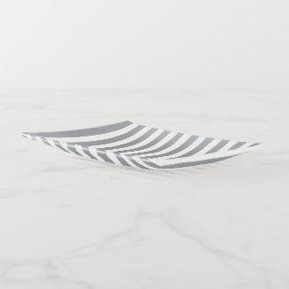 Graue und weiße Streifen Dekoschale