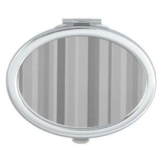 Graue vertikale Streifen Schminkspiegel