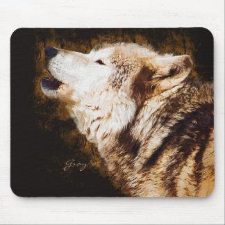 Graue Wölfe von Yellowstone Mauspad