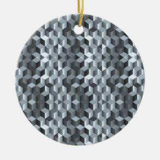 Graue Würfel, geometrische Formen, abstrakter Keramik Ornament