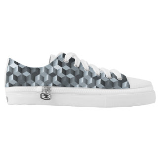 Graue Würfel, geometrische Formen, abstrakter Niedrig-geschnittene Sneaker