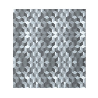 Graue Würfel, geometrische Formen, abstrakter Notizblock