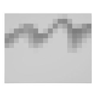 Grauer abstrakter Entwurf, Welle der Quadrate 11,4 X 14,2 Cm Flyer