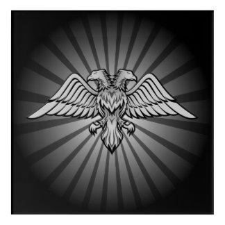 Grauer Adler mit zwei Köpfen Acryldruck