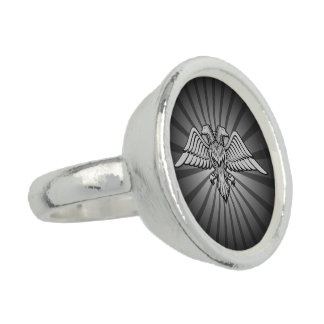 Grauer Adler mit zwei Köpfen Ring