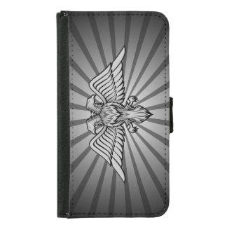 Grauer Adler mit zwei Köpfen Samsung Galaxy S5 Geldbeutel Hülle