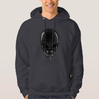 Grauer alien-Schädel-DunkelheitHoodie Hoodie
