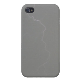 Grauer Blitz 4/4s iPhone 4 Cover