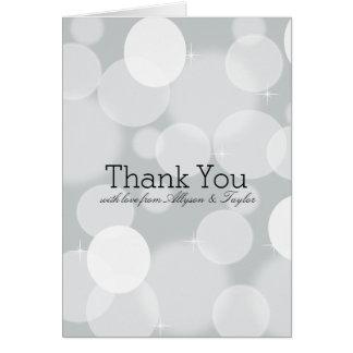 Grauer Bokeh danken Ihnen Karte