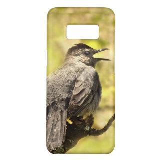 Grauer Catbird, der seinen Kasten der Case-Mate Samsung Galaxy S8 Hülle