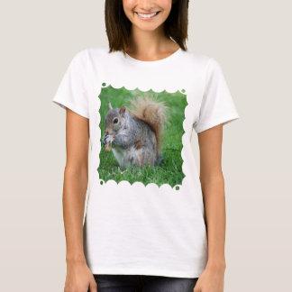 Grauer Eichhörnchen-Damen-T - Shirt