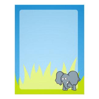 Grauer Elefant-Cartoon Flyer