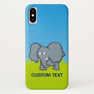 Grauer Elefant-Cartoon iPhone X Hülle