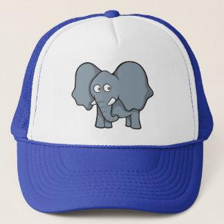 Grauer Elefant-Cartoon Truckerkappe