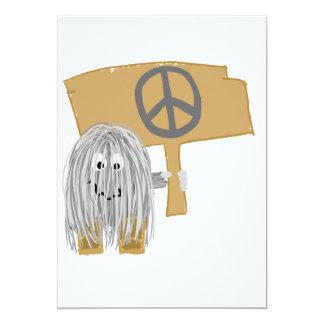 Grauer Frieden 12,7 X 17,8 Cm Einladungskarte