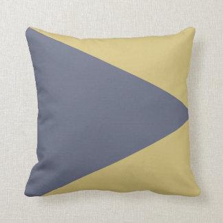 Grauer/gelber abstrakter Kissen