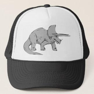 Grauer/grauer Triceratops-Dinosaurier Truckerkappe