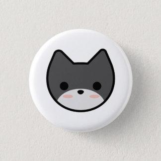 Grauer Kätzchen-Knopf Runder Button 2,5 Cm