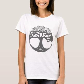 Grauer keltischer Baum des Lebens mit keltischem T-Shirt