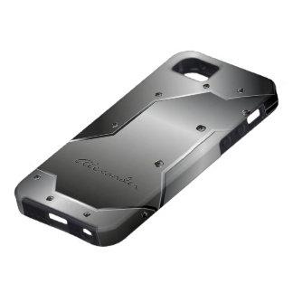 Grauer Metall-Edelstahl Look, gestaltbare iPhone 5 Hülle