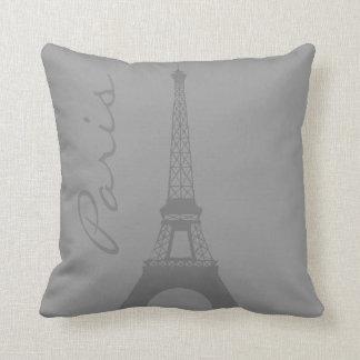 Grauer Paris-Eiffelturm Kissen