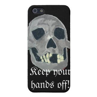 Grauer Schädel iphone Kasten iPhone 5 Schutzhülle