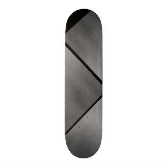 Grauer Stahlgeschwindigkeits-Blick weißes 20,6 Cm Skateboard Deck