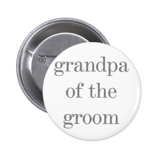 Grauer Text-Großvater des Bräutigams Runder Button 5,1 Cm