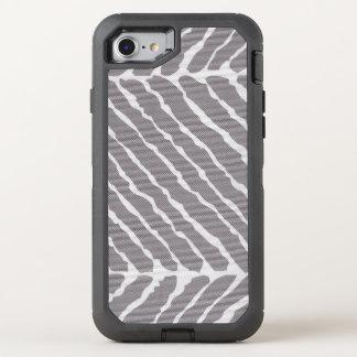 Grauer Tiger-Streifen-Leinwand-Blick OtterBox Defender iPhone 8/7 Hülle