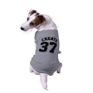 Grauer u. schwarzer Hundesport-Jersey-Entwurf der Shirt
