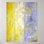 Grauer und gelber abstrakter Kunst-Plakat-Druck