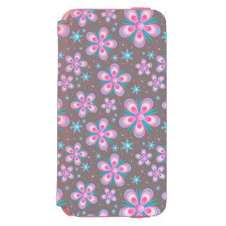 Grauer und rosa Blumen-Kasten Incipio Watson™ iPhone 6 Geldbörsen Hülle