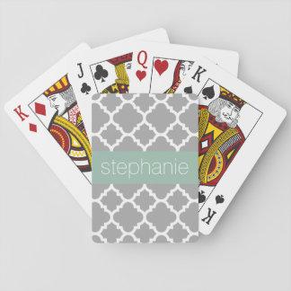 Grauer und tadelloser Quatrefoil Spielkarten